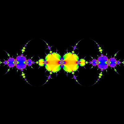 Konvergenzgeschwindigkeit z^3-z=0, Schröder-Verfahren, a=1.98, B=[-1.3, 1.3]