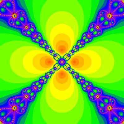 Konvergenzgeschwindigkeit z^4-1=0, Newton-Verfahren