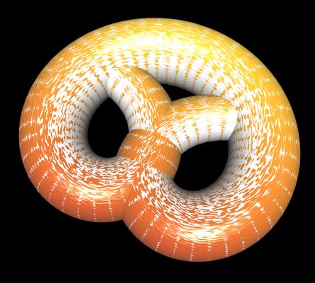 3D Brezel mit leichter Textur und Mehl