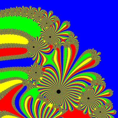 Basins of Attraction z^4-1=0, Kung-Traub-Verfahren, Zoom