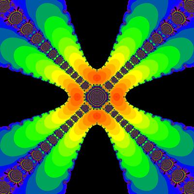 Konvergenzgeschwindigkeit z^4-1=0, King-Verfahren, beta=-2