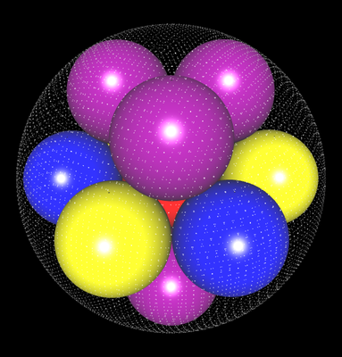 3D Kissing Spheres n=12