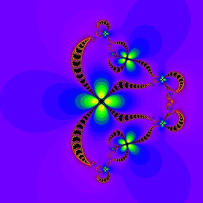 Konvergenzgeschwindigkeit z^4-1=0, Sekanten-Verfahren, z1=(-10, 0), B=[-20, 205]x[-20, 20]