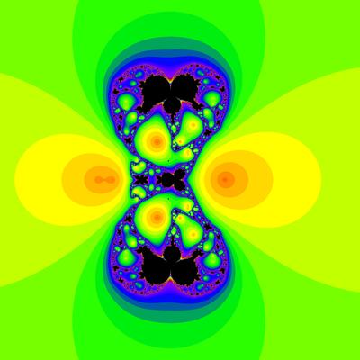 Konvergenzgeschwindigkeit z^3-1=0,  Sekanten-Verfahren, z1=(0.5, 0)