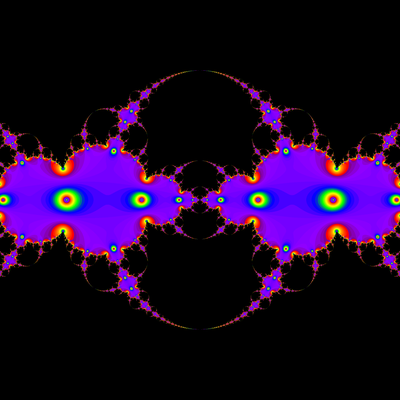 Konvergenzgeschwindigkeit z^2-1=0, Schröder-Verfahren modifiziert mit a=1.9