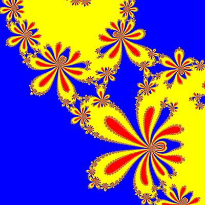 Basins of Attraction z^3-z=0, Kung-Traub-Verfahren, Zoom