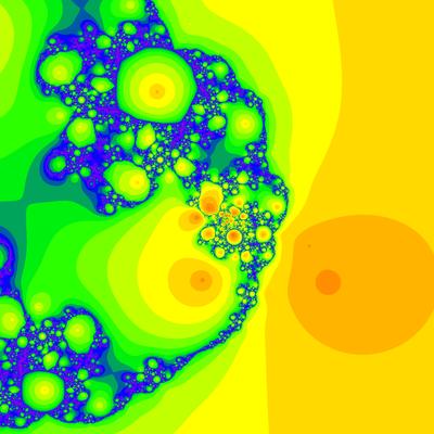 Random Polynom, Grad 4, Schröder-Verfahren, Seed=1000000
