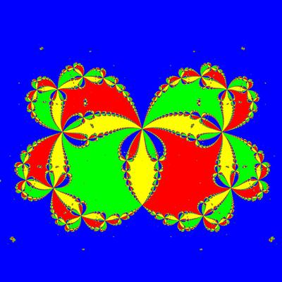 Basins of Attraction z^4-1=0, Feng -Verfahren, Zoom