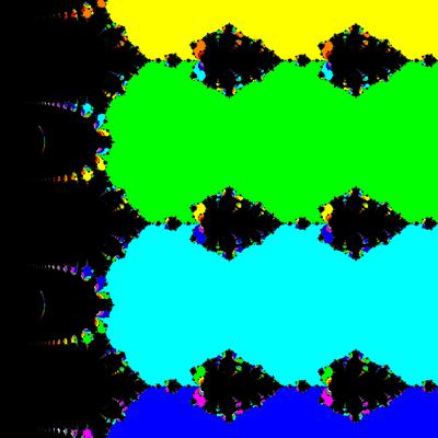 Basins of Attraction exp(z)-1=0 King-Verfahren, beta=-0.5