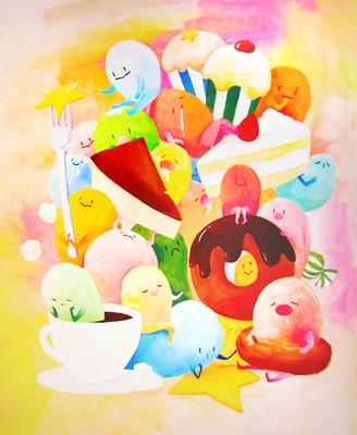 2012 喫茶展 オリジナルキャラクター「ぷにぷに」 『おやつのじかん』