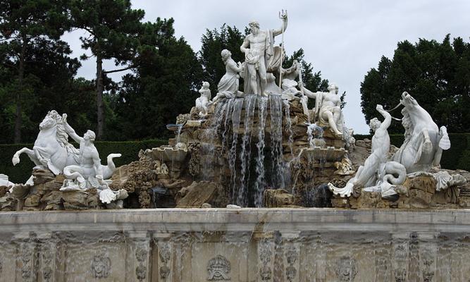 la fontaine de Neptune
