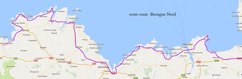 notre route de Trégastel à Hirel