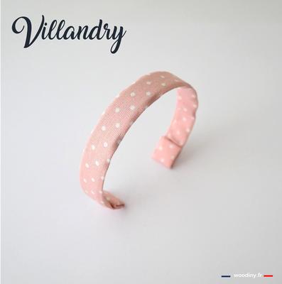 Bracelet rose à pois blancs