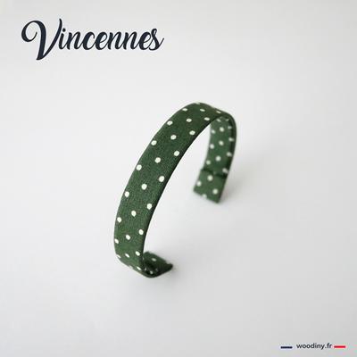 Bracelet vert à pois blancs