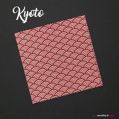 Pochette de costume rouge motif vagues