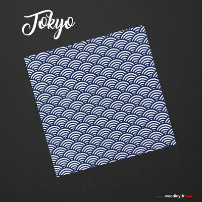 Pochette de costume bleu motif vagues