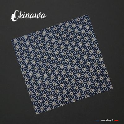 Pochette de costume asanoha bleu