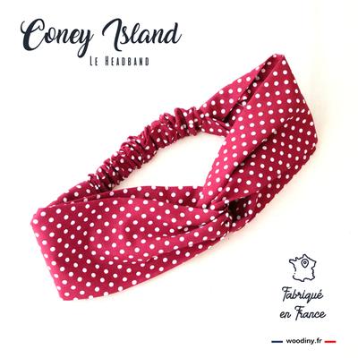 headband rouge à pois blanc