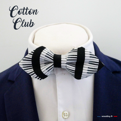 Noeud papillon piano Cotton Club pointe