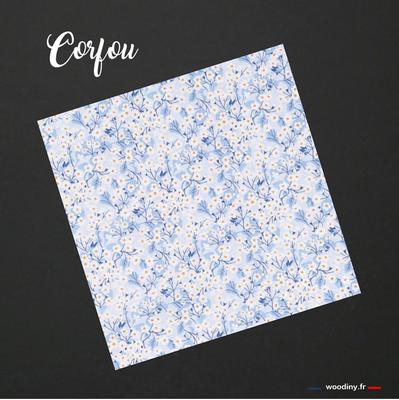 Pochette de costume fleuri bleu ciel