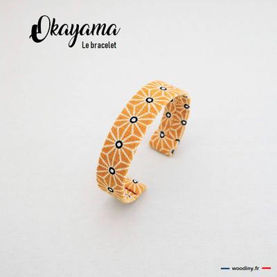 Bracelet  jaune motif asanoha