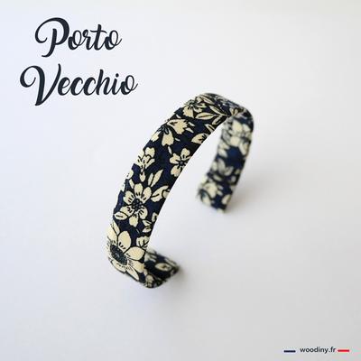 Bracelet tissu fleuri vintage