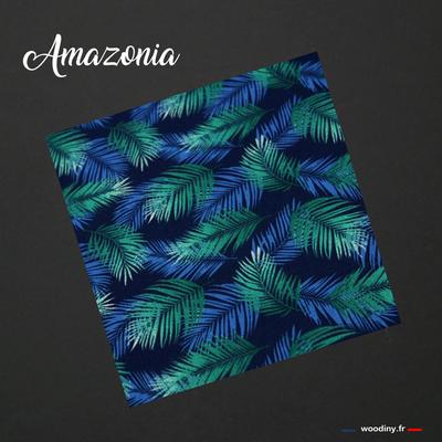 Pochette de costume bleu vert jungle