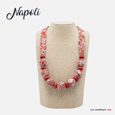 Collier liberty rouge
