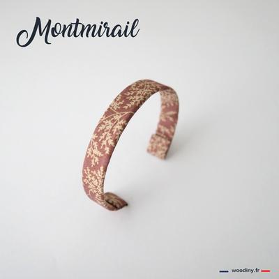 Bracelet rose motif végétal