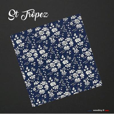 Pochette de costume fleuri bleu