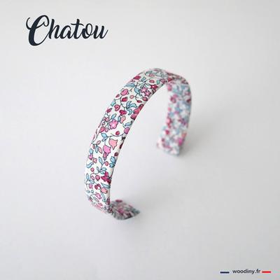 Bracelet liberty fleuri rose et bleu