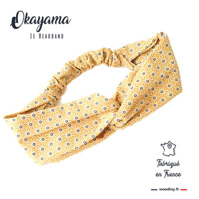 headband jaune motif japonais
