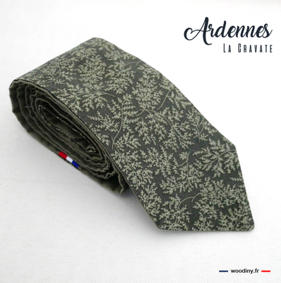 Cravate vert feuillage