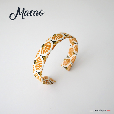 Bracelet tissu jaune rétro