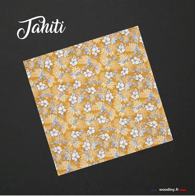 Pochette de costume fleur hawaienne