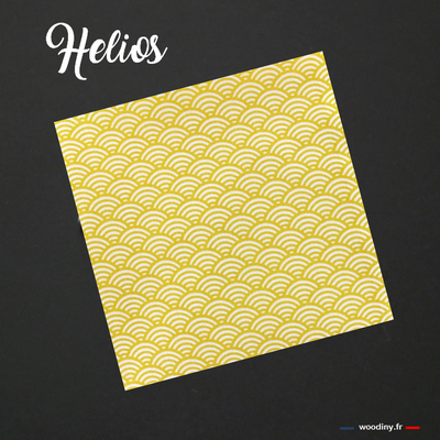 Pochette de costume à vagues jaunes