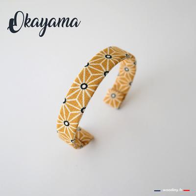 Bracelet jaune asanoha