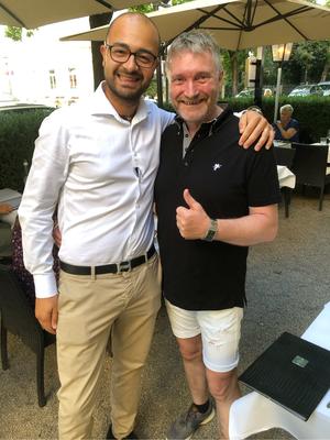 Olli mit Inhaber Bagio