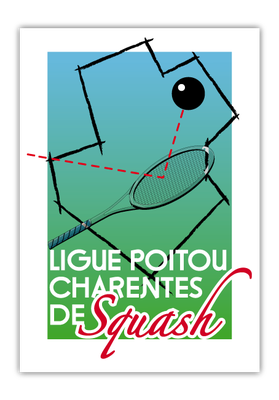 Création du logo de la LIGUE POITOU-CHARENTES DE SQUASH (1997)