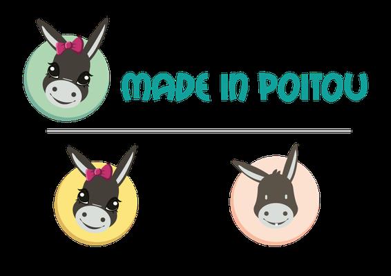 Création de la mascotte et recherche typo pour l'e-Boutique locale MADE in POITOU