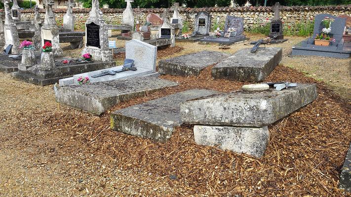 Paillage des tombes