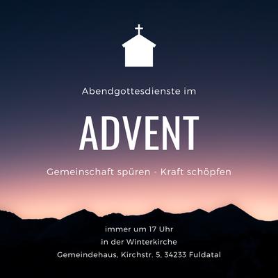 Abendgottesdienste im Advent 2020