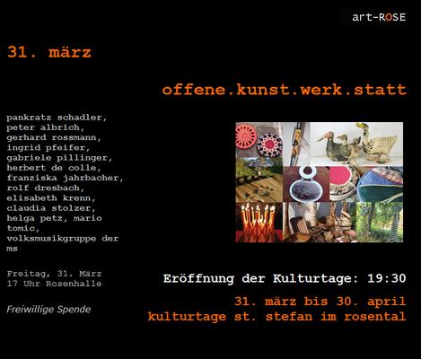 Teilnahme offene.kunst.werk.satt, St. Stefan i. Rosental