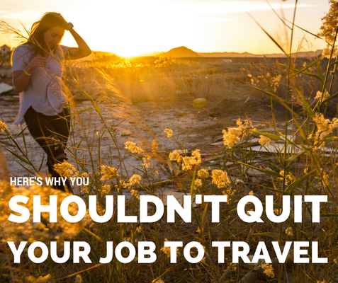 quit job to travel