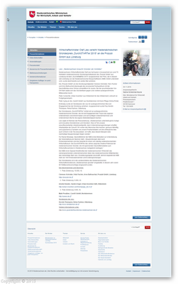 Online Artikel Ministerium für Wirtschaft, Arbeit und Verkehr, Minister Olaf Lies