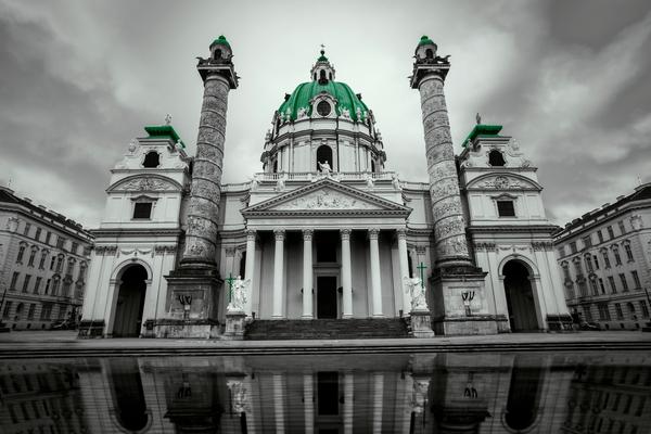Kreative Arbeiten / Karlskirche Wien (als Print erhältlich)