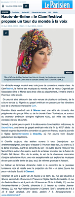 Article du journal Le Parisien - 13 avril 2015