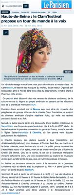Article du journal Le Parisien - 13 avril 2015