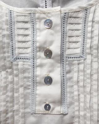 Tunique soie et coton détail encolure