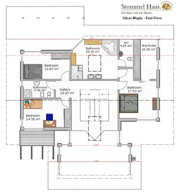 Silver maple 3 bedrooms stommel haus uk for 9x12 bathroom design